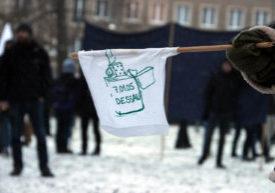 """Demonstrierende in Dessau im Jahr 2017 auf der Demonstration """"Oury Jalloh: Kein Einzelfall"""""""
